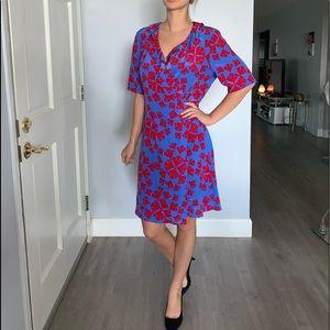 NWT Diane von furstenberg 100% wrap dress